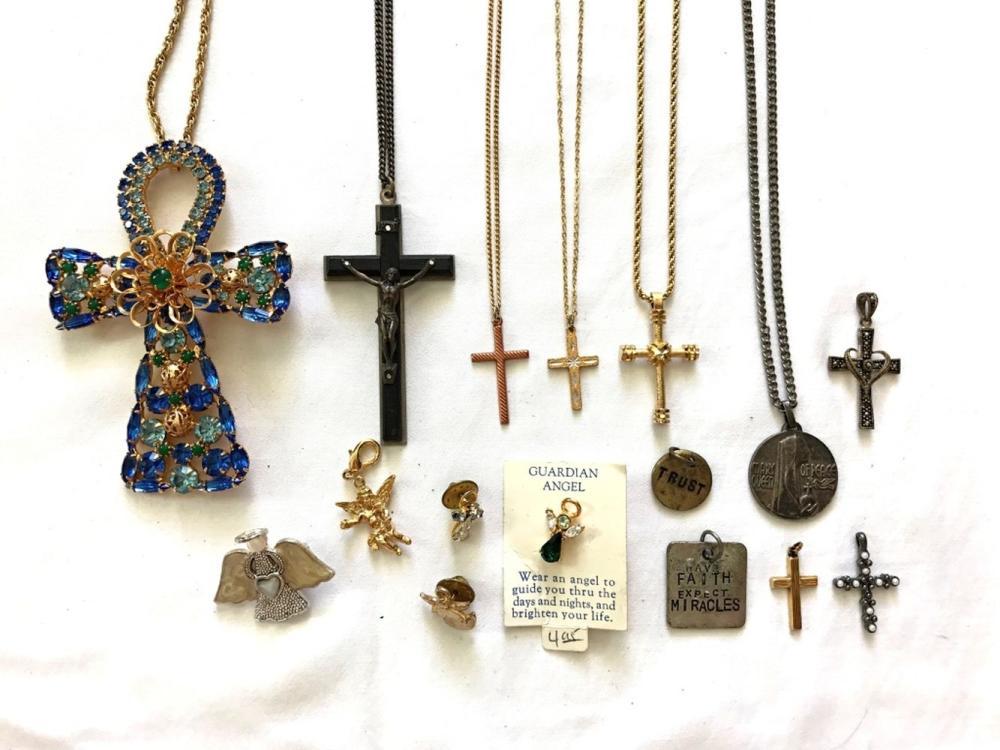 RELIGIOUS CROSS & ANGEL LOT