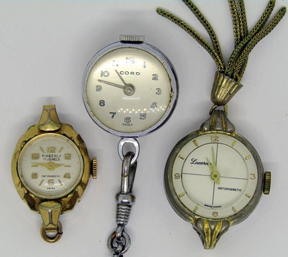 3 SWISS MADE, PENDANT POCKETWATCHES!