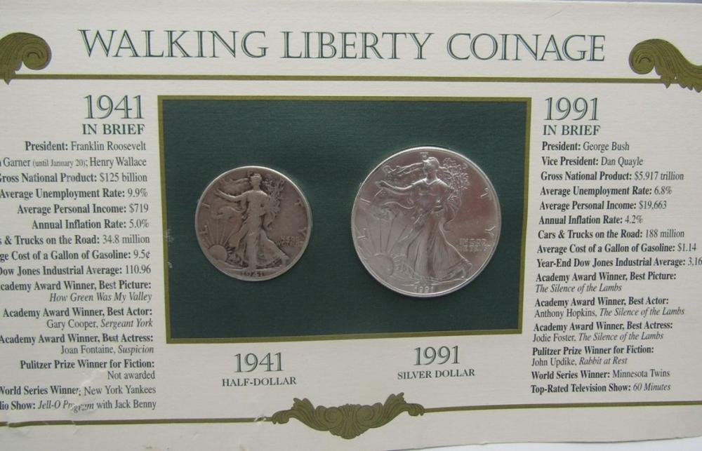 1991 & 1941 WALKING LIBERTY COINAGE