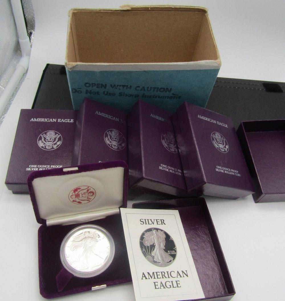 5-1987 PROOF AM SILVER EAGLES