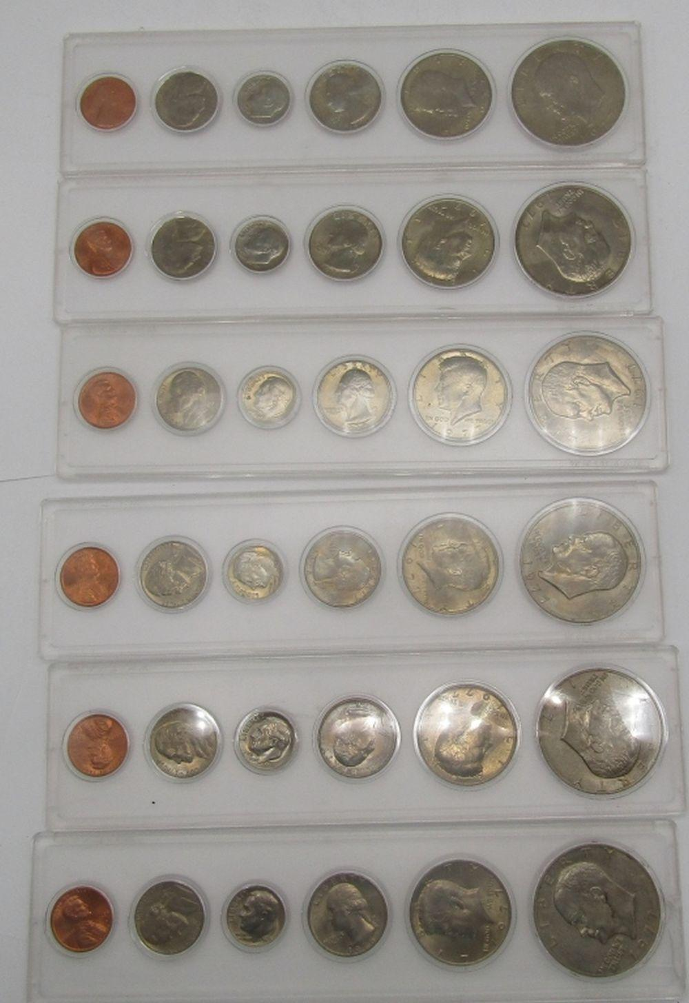 6- YEAR SETS of 1977/1978 COINS