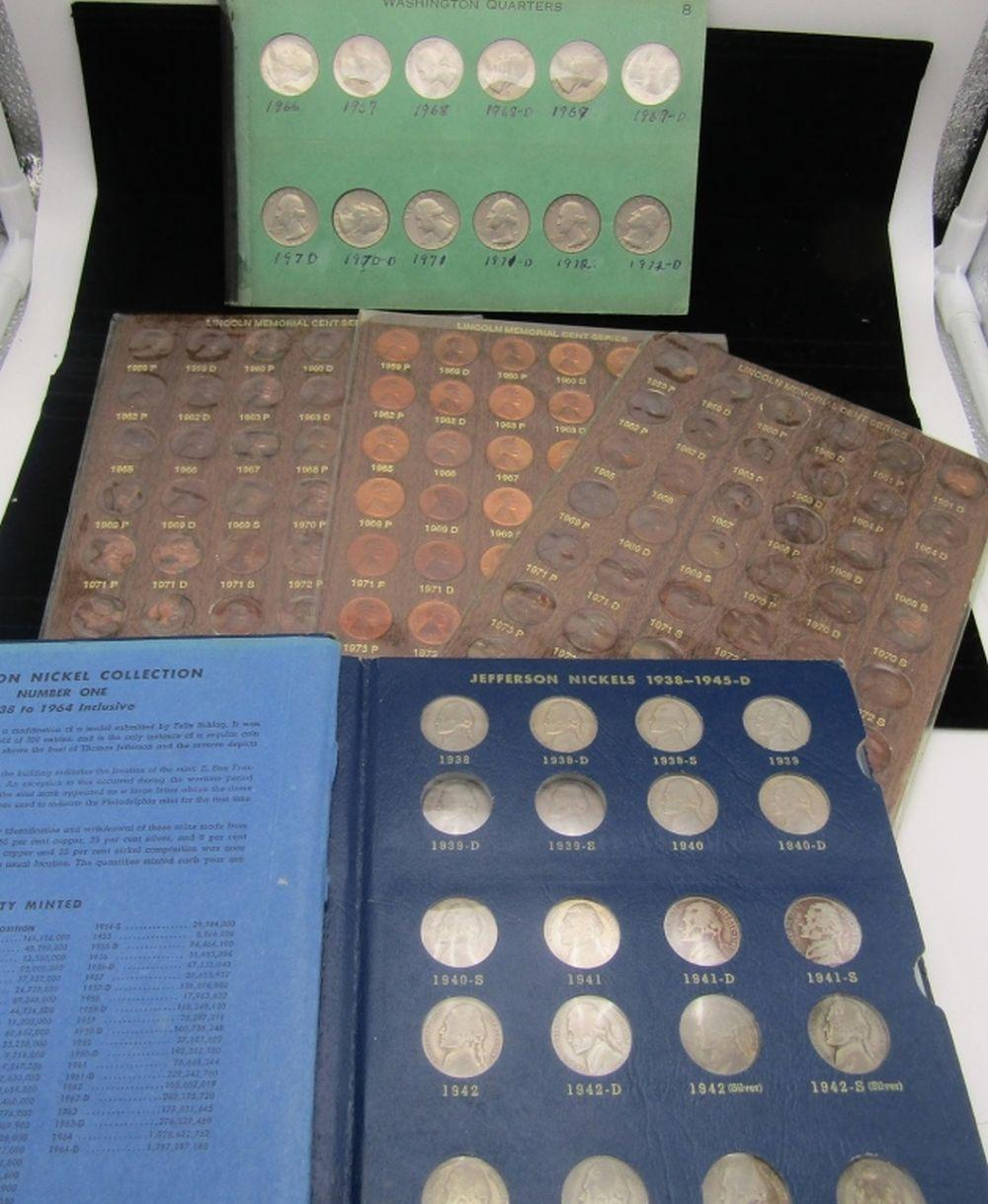 3-LINCOLN CENT SETS 1959-1974;