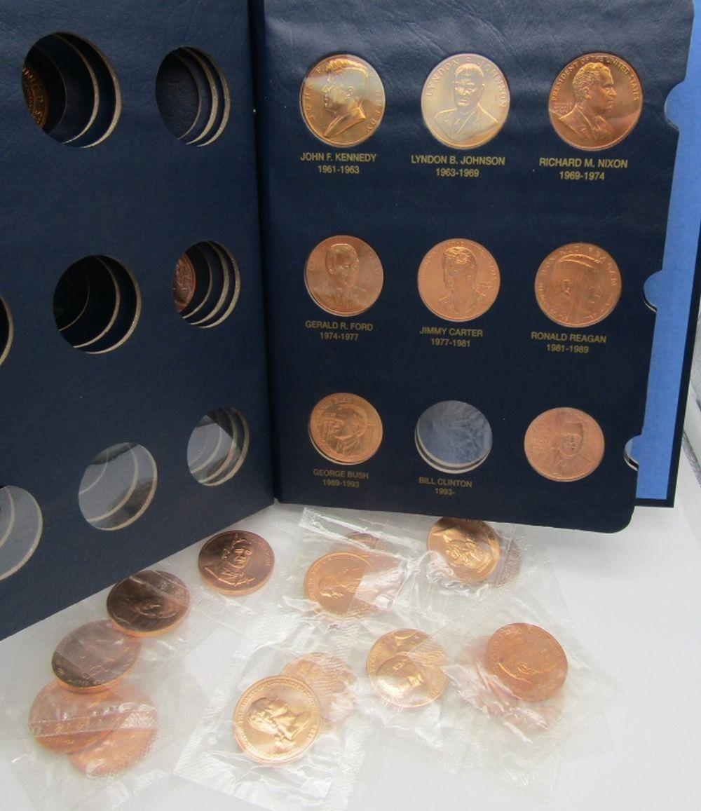 27 MEDALS of PRESIDENTS w/ALBUM