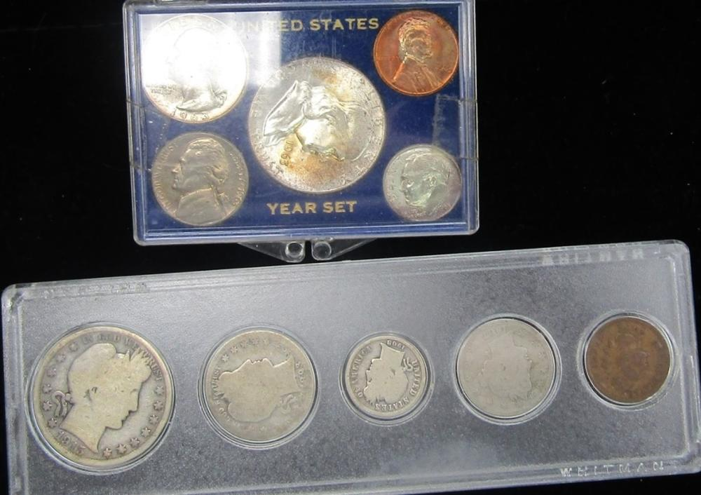 5 Coin TYPE SET & 1963 UNC YEAR SET