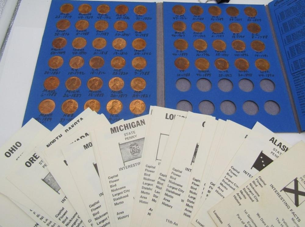 STATE PENNY STAMPED SET ( 50 )