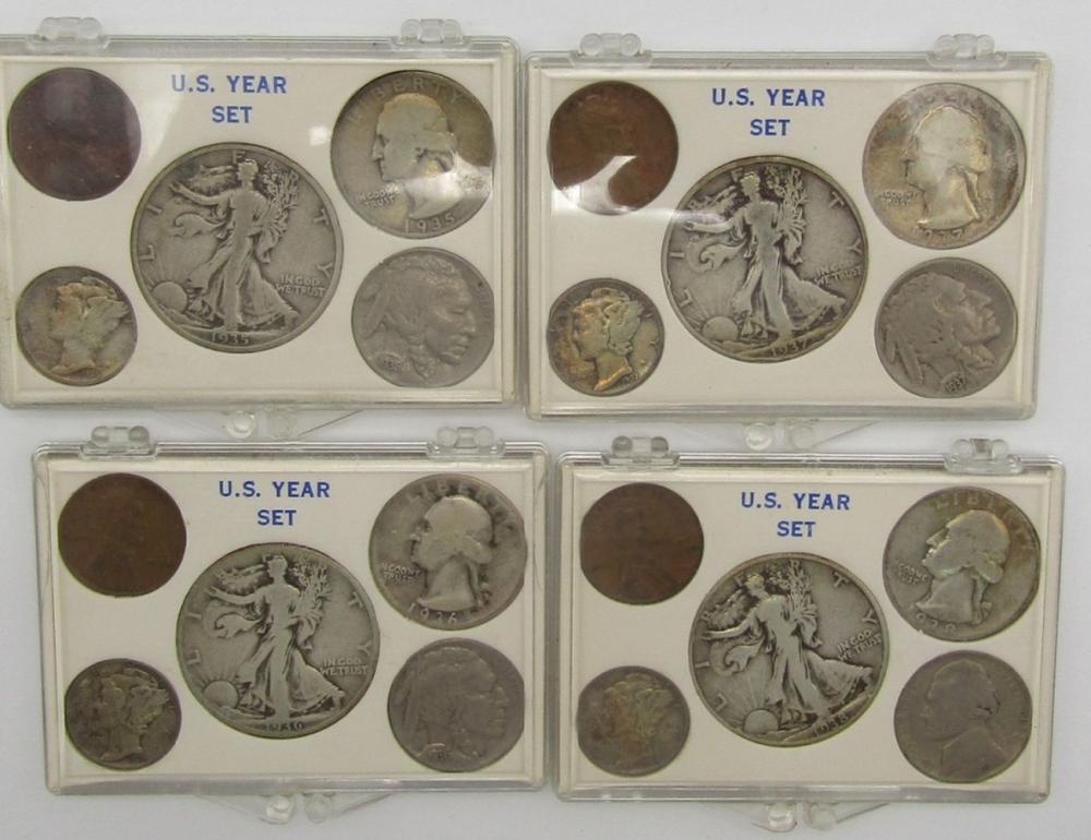 1936, 1937, 1938, 1939 YEAR SETS