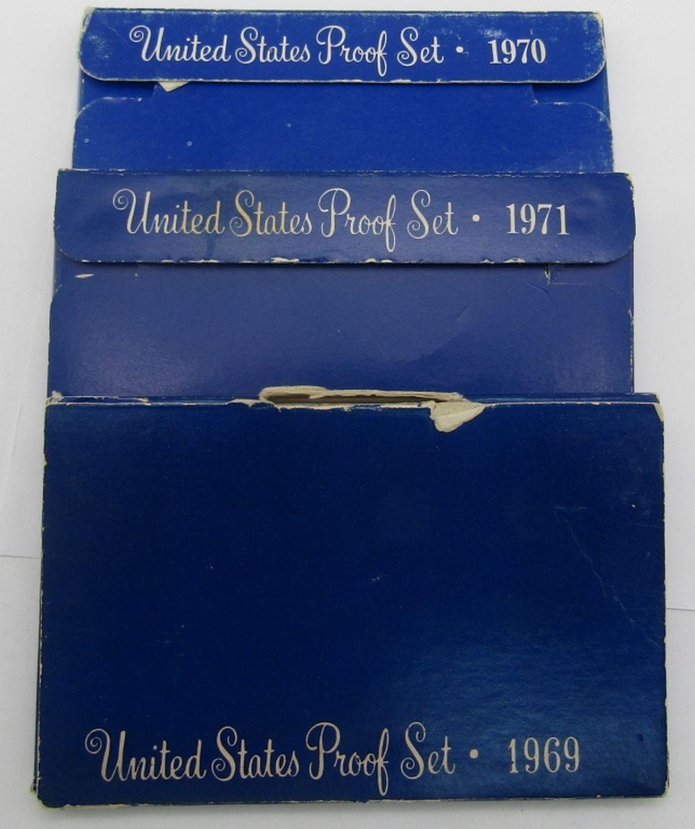 1969, 1970, 1971 U.S. PROOF SETS
