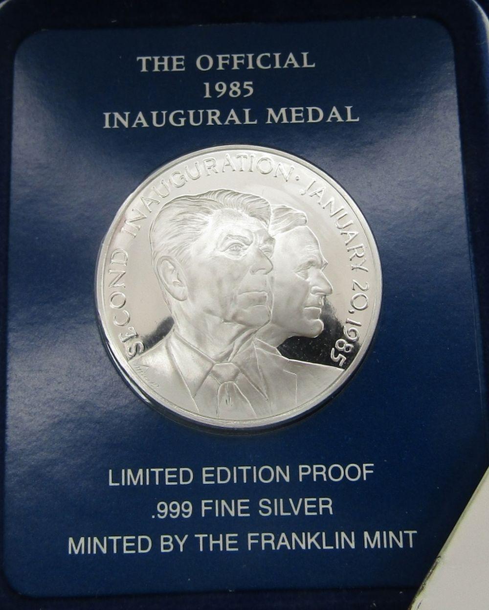 1985 INAUGURAL MEDAL .999 SILVER