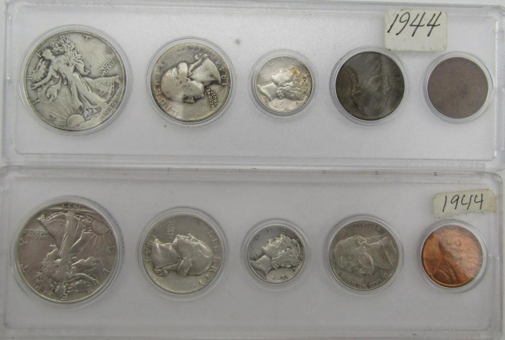 2-1944 YEAR SETS in CAPITOL HOLDERS