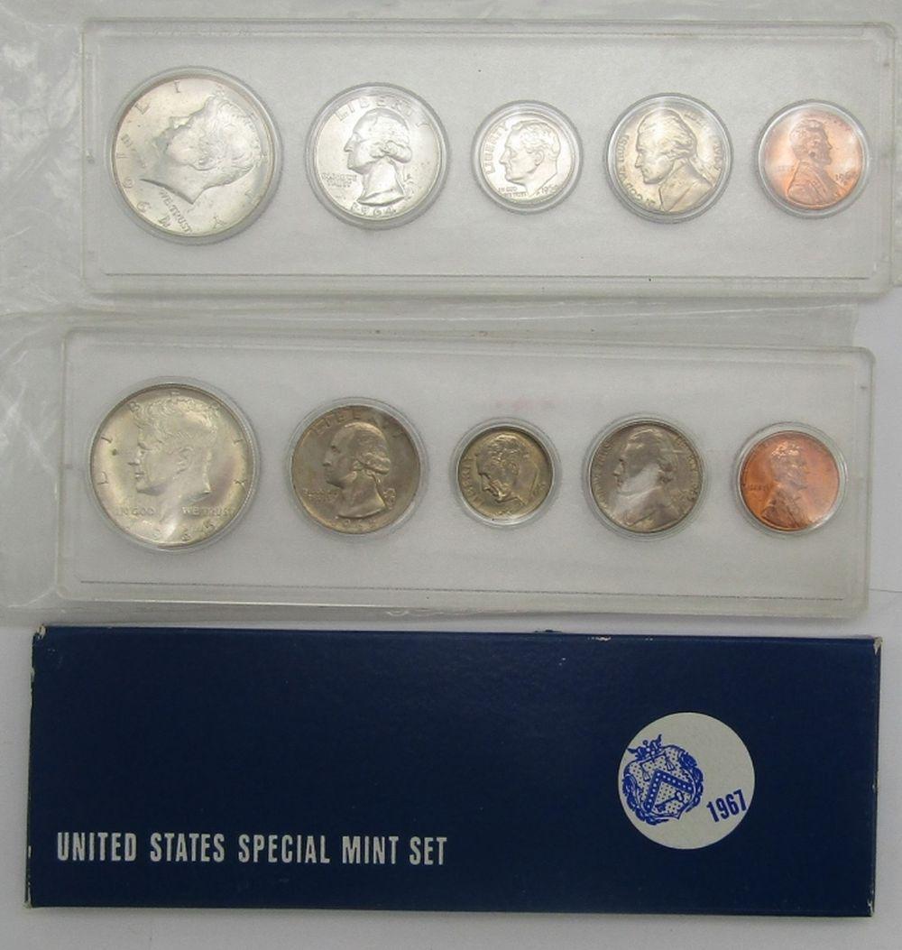 1964, 1965 & 1967 U.S. MINT SETS