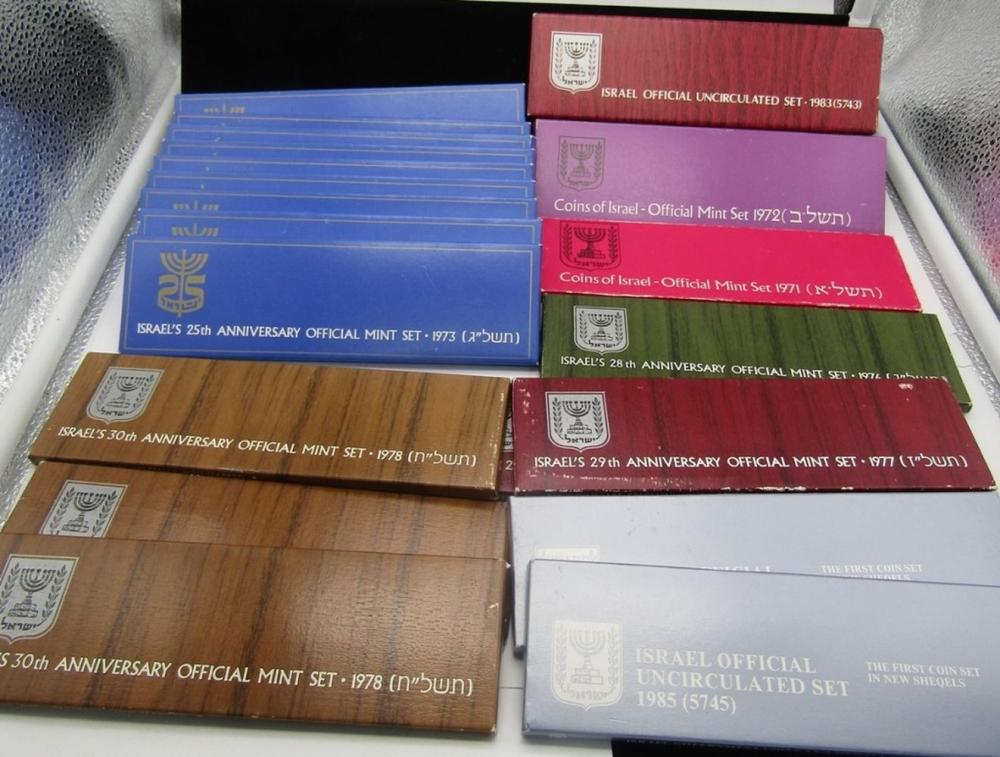 20 COINS of ISRAEL OFFICIAL MINT SETS