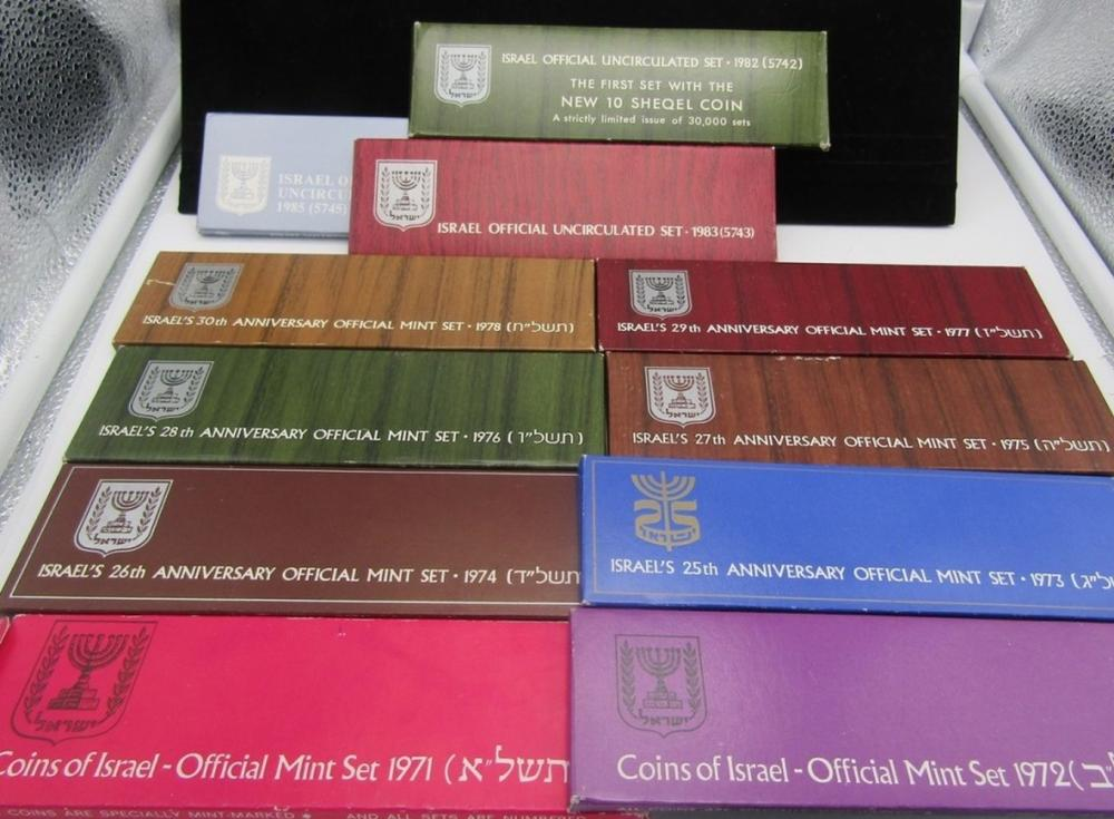 11 COINS of ISRAEL OFFICIAL MINT SETS