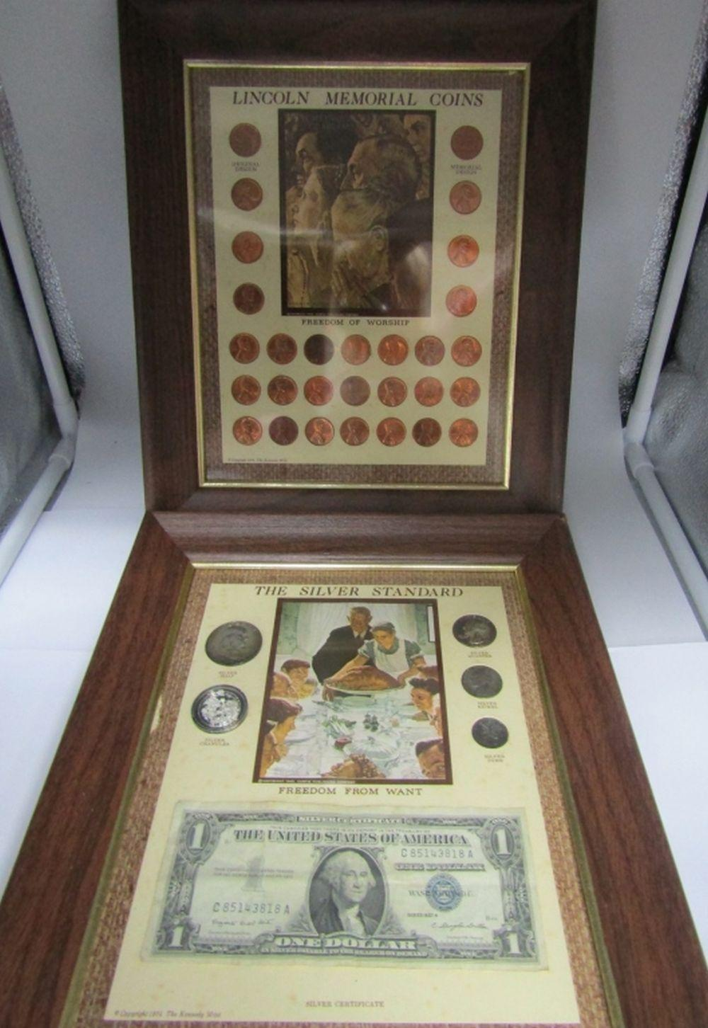 2-FRAMED COIN COLLECTIONS
