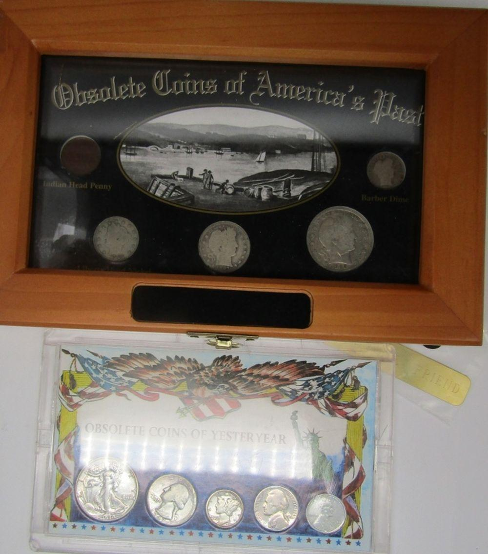 OBSOLETE COINS of AMERICA 5 COIN SET;