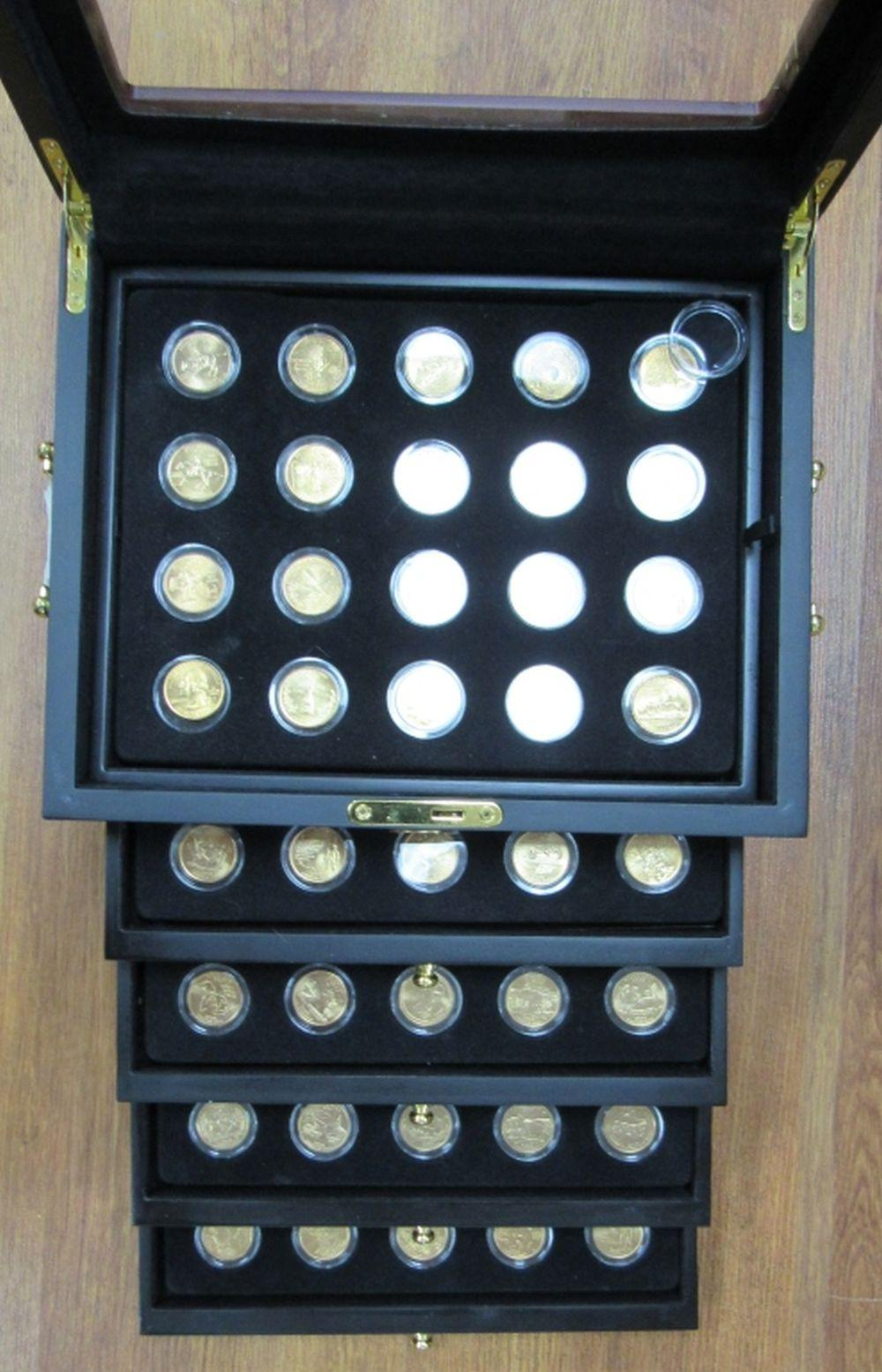 $25 FACE VALUE STATE QTR GOLD EDITION SET