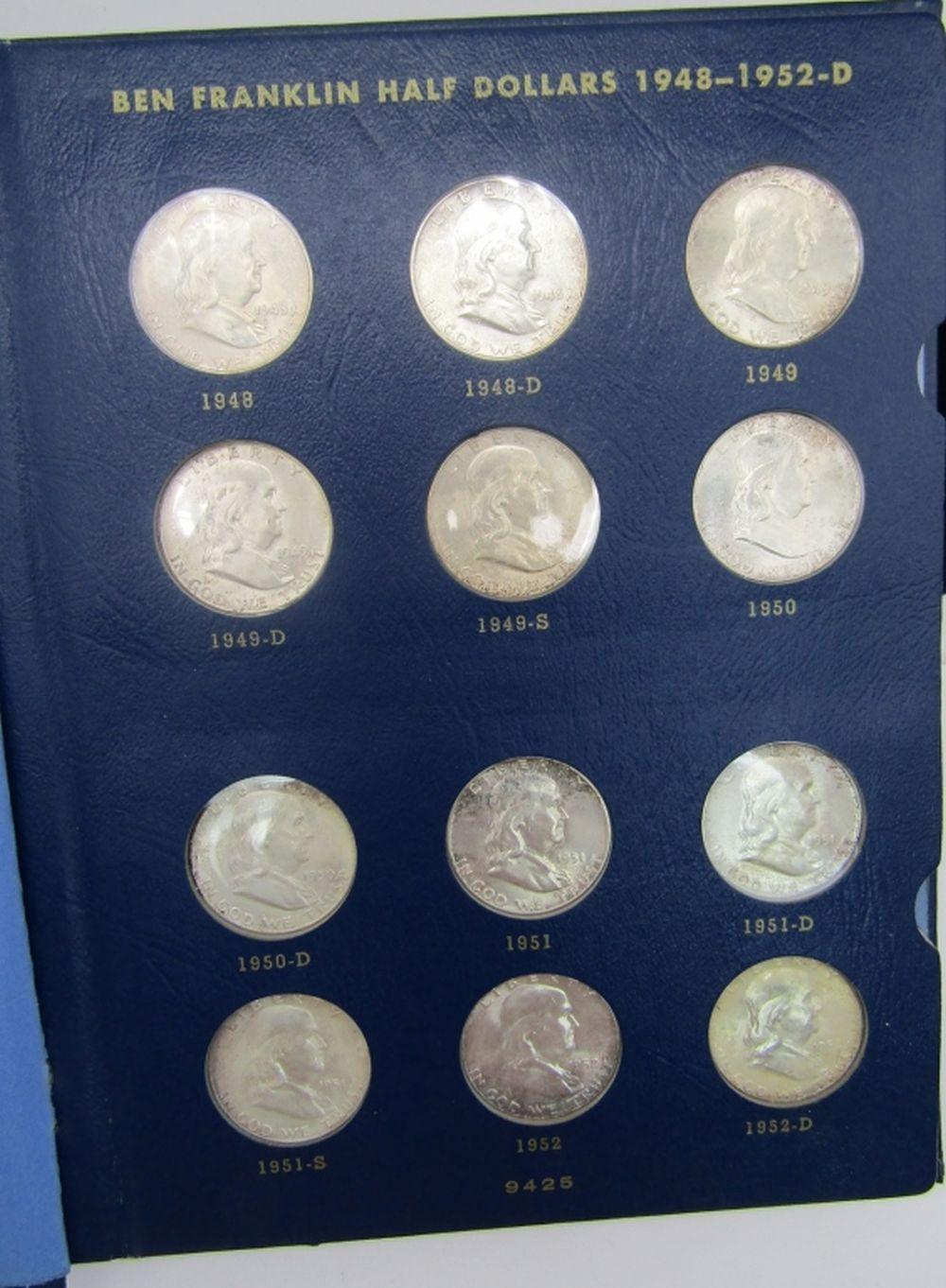 FRANKLIN HALF DOLLAR SET ( 35 COINS )