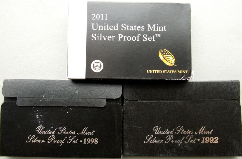 3- U.S. SILVER PROOF SETS