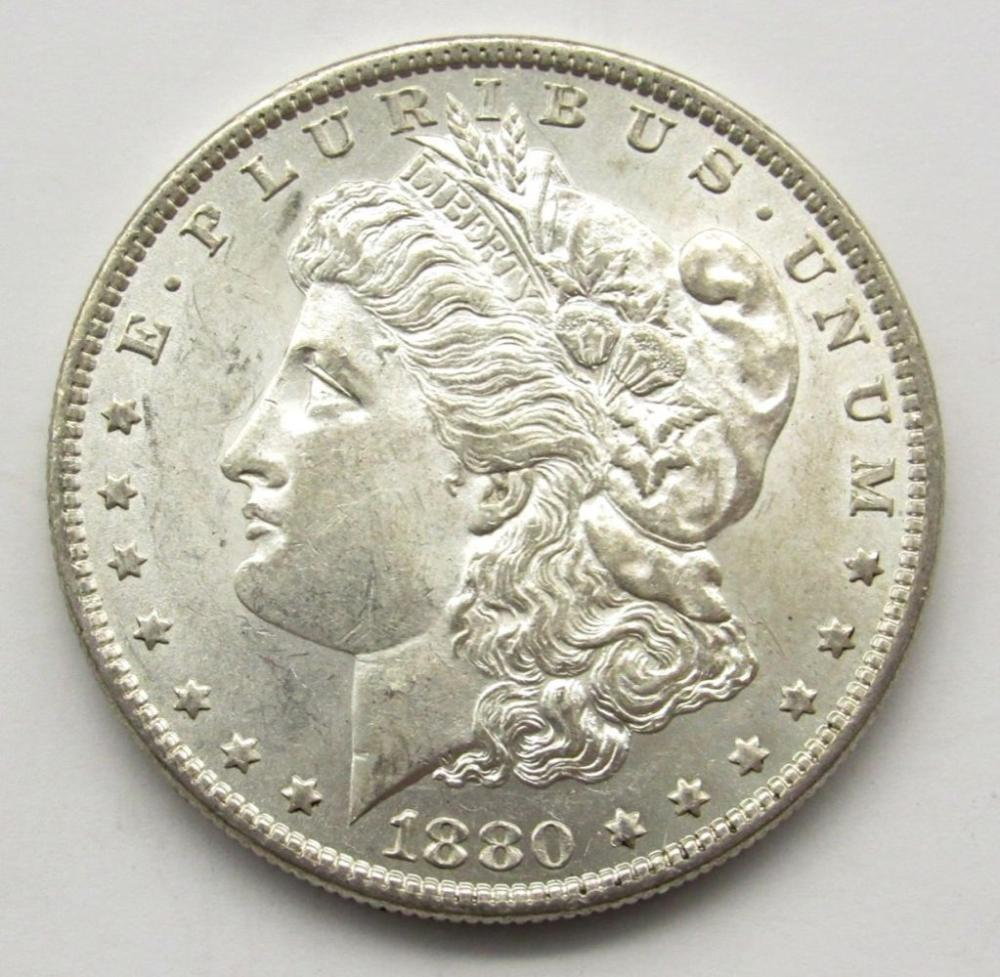 1880-O MORGAN SILVER DOLLAR MS 60