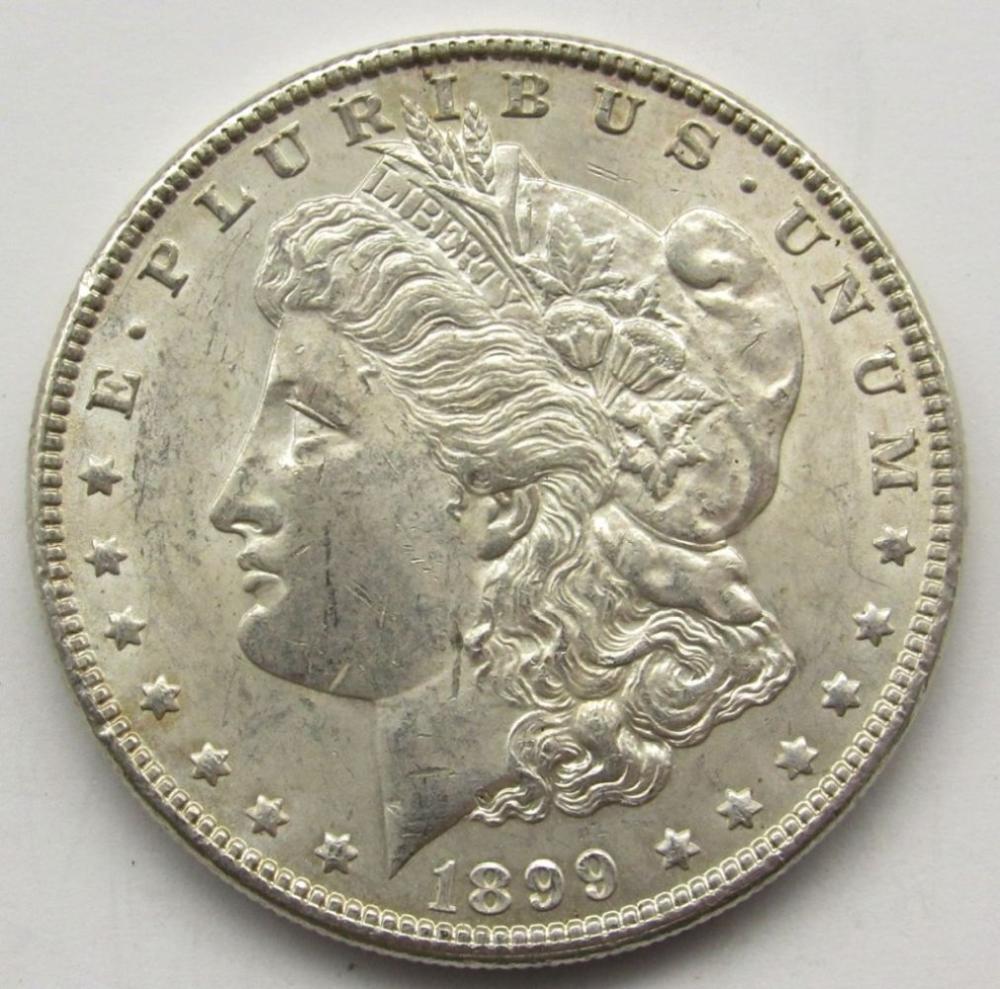 1899 MORGAN SILVER DOLLAR MS 60