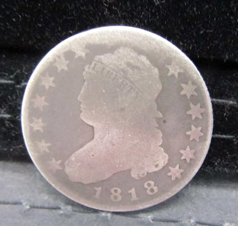 1818 CAPPED BUST QTR GOOD