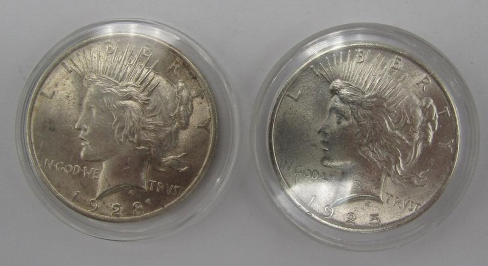 1923 & 1925 PEACE DOLLARS