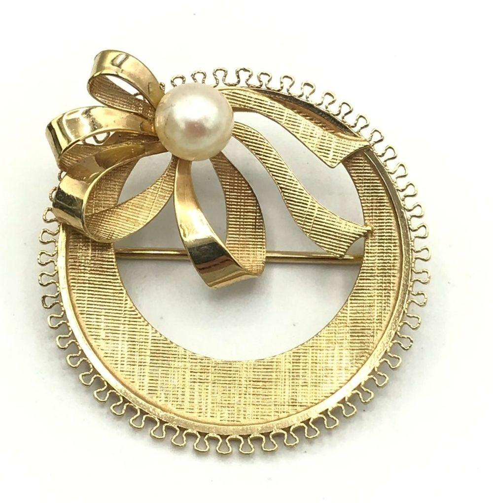 12/20 GOLD FILLED BROOCH W BOW