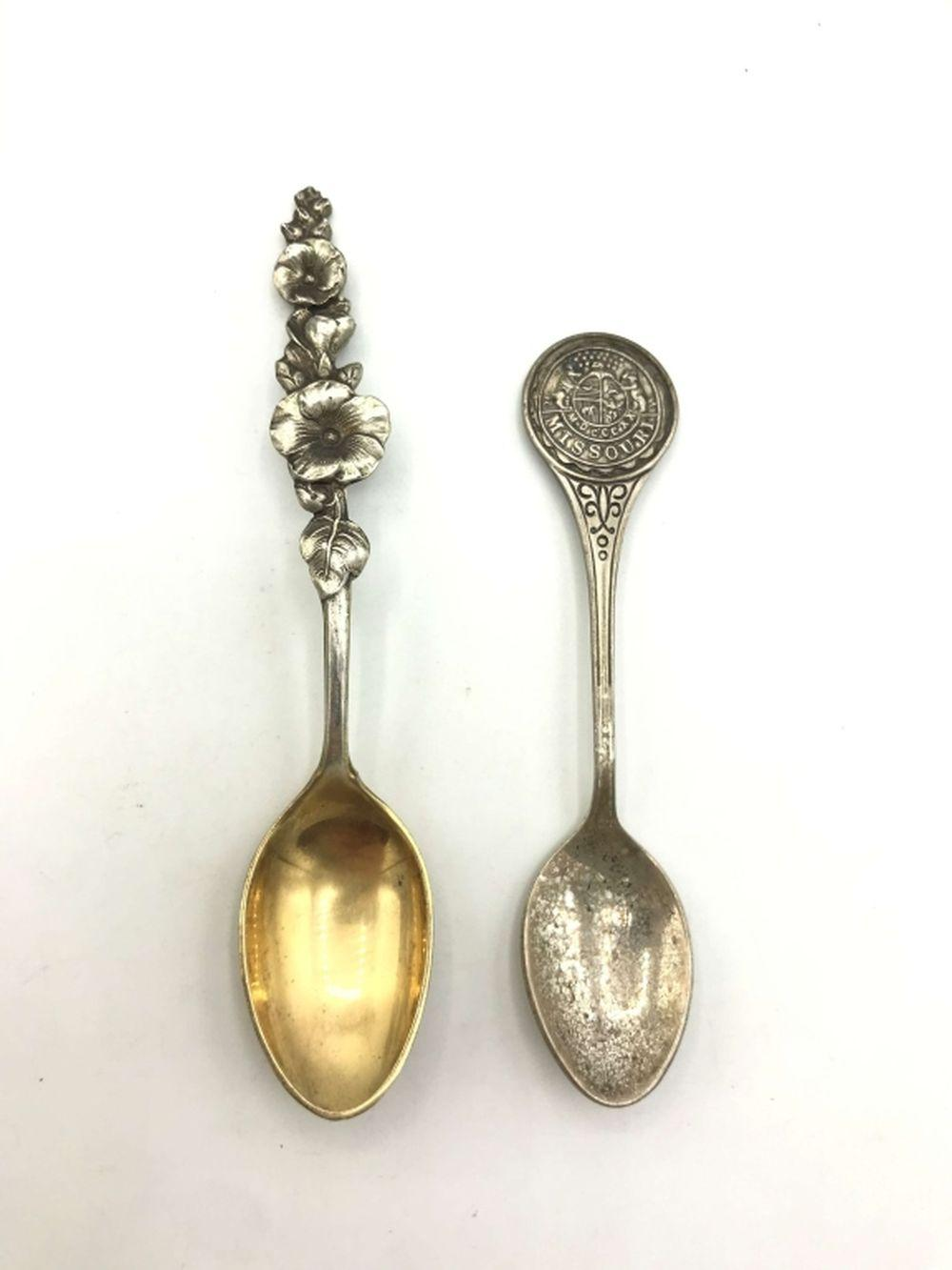 2 STERLING SPOONS (BRUCE & REED & BARTON)