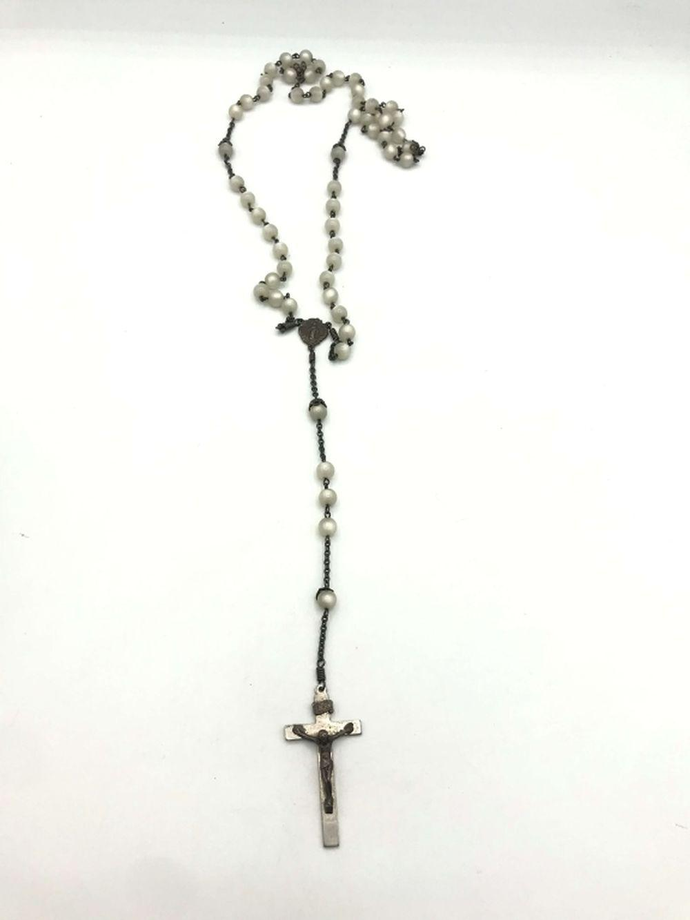 STERLING ROSARY NECKLACE