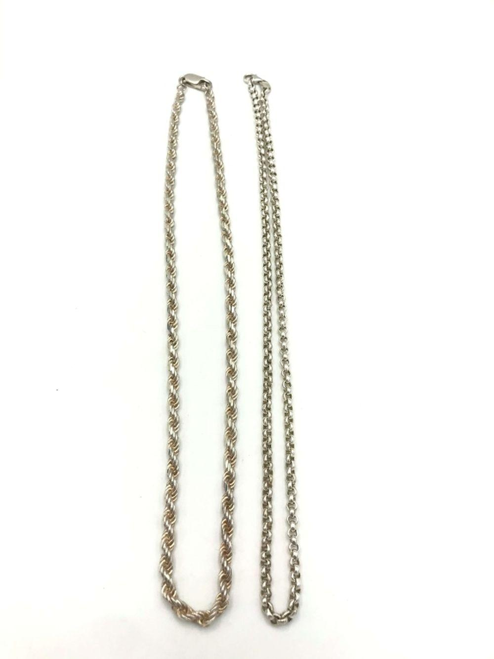 2 HEAVY STERLING NECKLACES