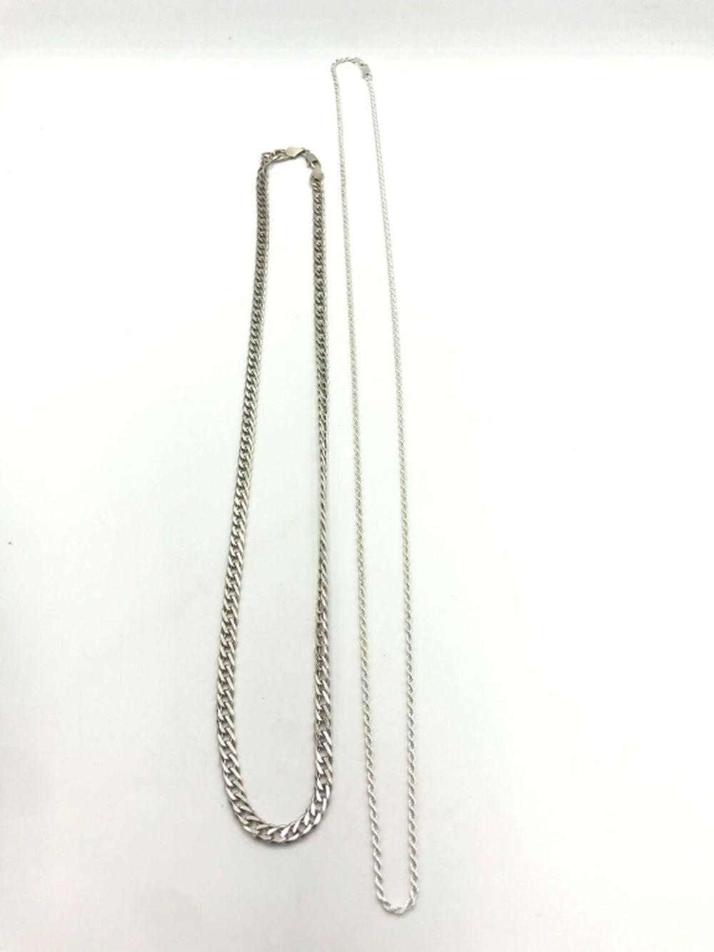 2 STERLING NECKLACES