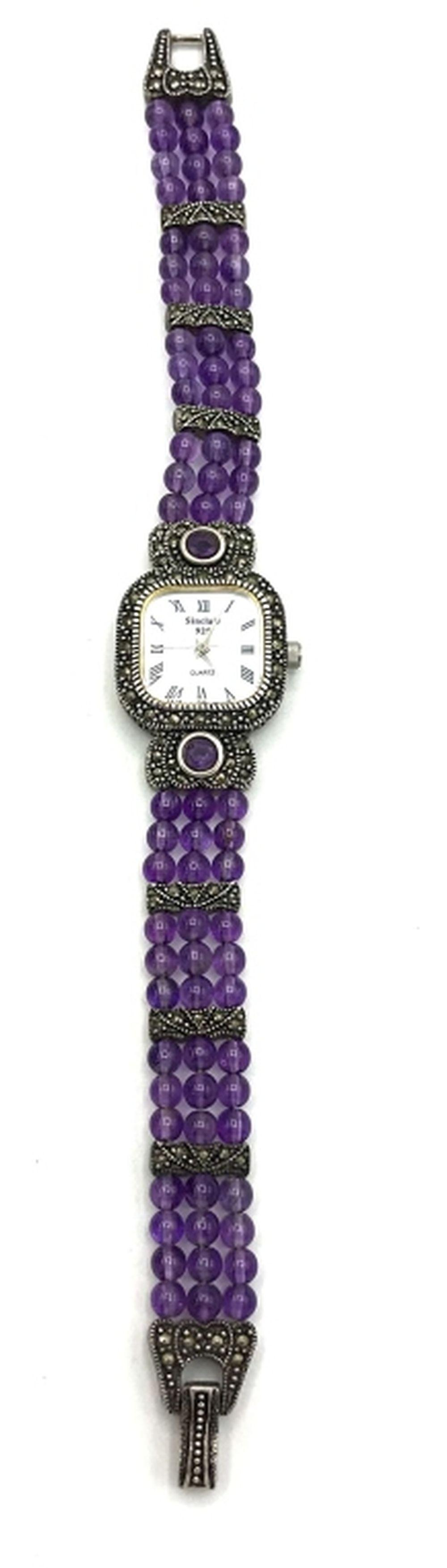 SINCLAIR .925 MARCASITE WATCH BEADED BAND