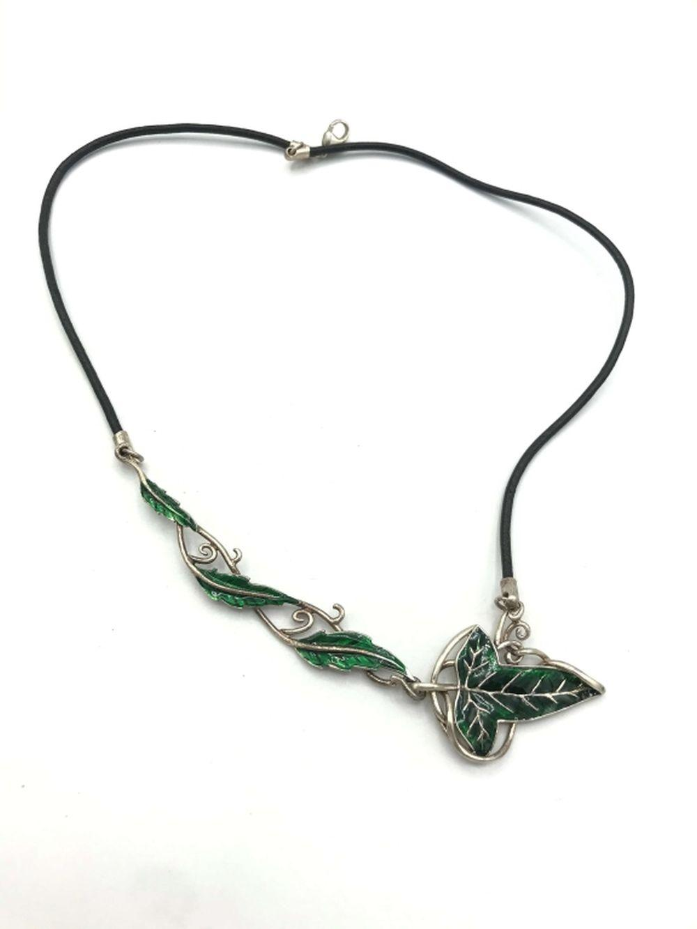 TNC STERLING NECKALCE WITH GREEN LEAVES