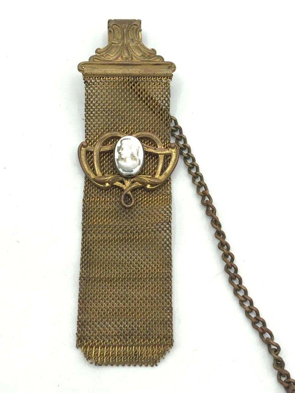 VINTAGE BOOKMARK with CAMEO