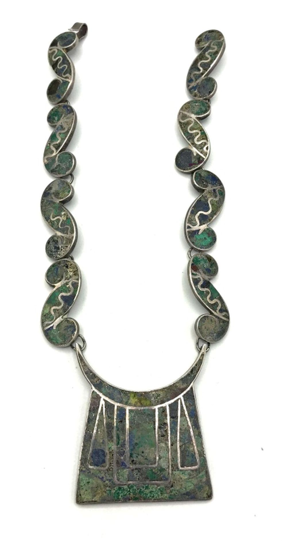 OLD TAXCO STERLING NECKLACE WOW!!
