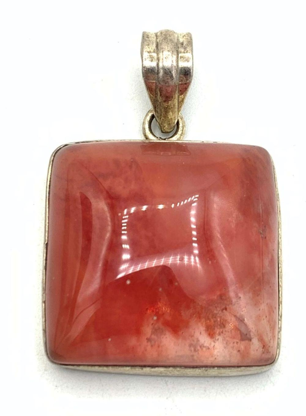 .925 PENDANT RED/CLEAR PENDANT