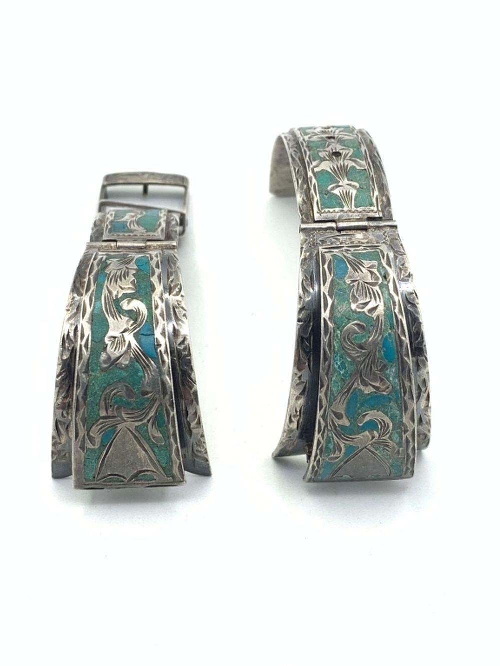 STERLING WATCH BAND INLAY STONES