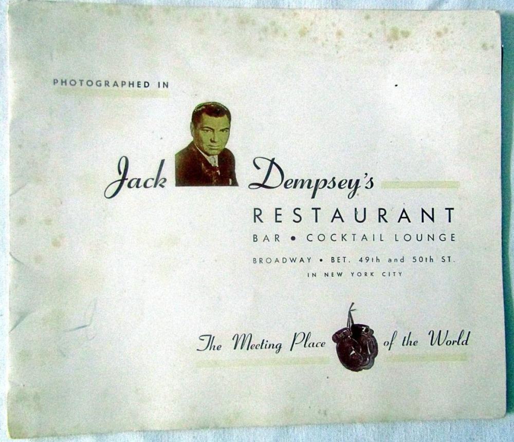 JACK DEMPSEY's Restaurant Autographed