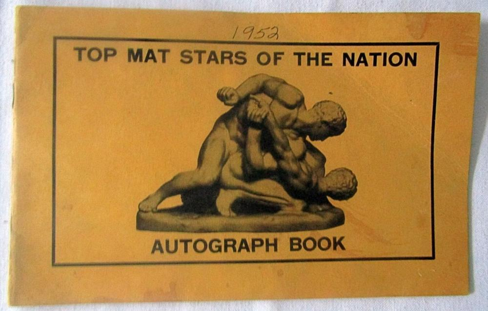 (11) AUTOGRAPHED BOOK WRESTLERS 1952