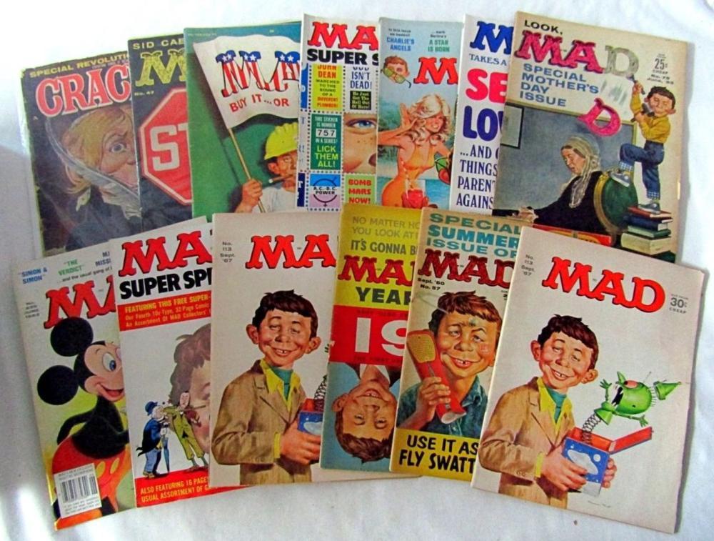 (12) MAD MAGAZINE 1959-1983