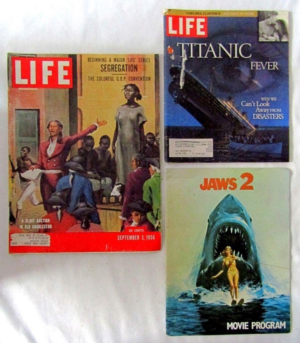 (2) LIFE MAGAZINE 1956 A SLAVE AUCTION &
