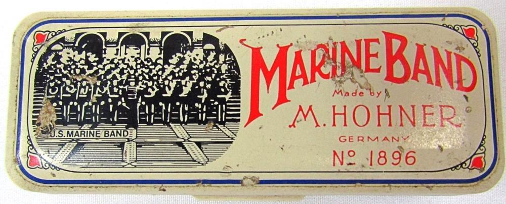 M HOHNER MARINE BAND HARMONICA W/ CASE!