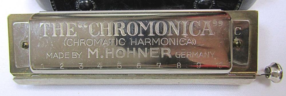 "M HOHNER ""THE CHROMONICA"" HARMONICA;"