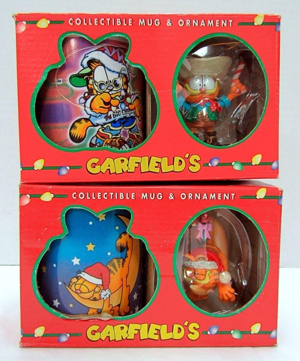 (2) 1996 COLLECTIBLE GARFIELD MUG AND ORNAMENT SET