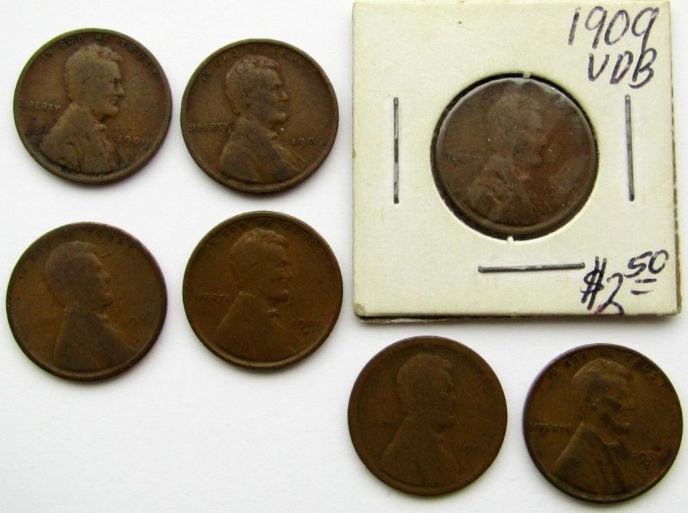 1909-S VG, 1909 VDB, 1931-S LINCOLN CENTS