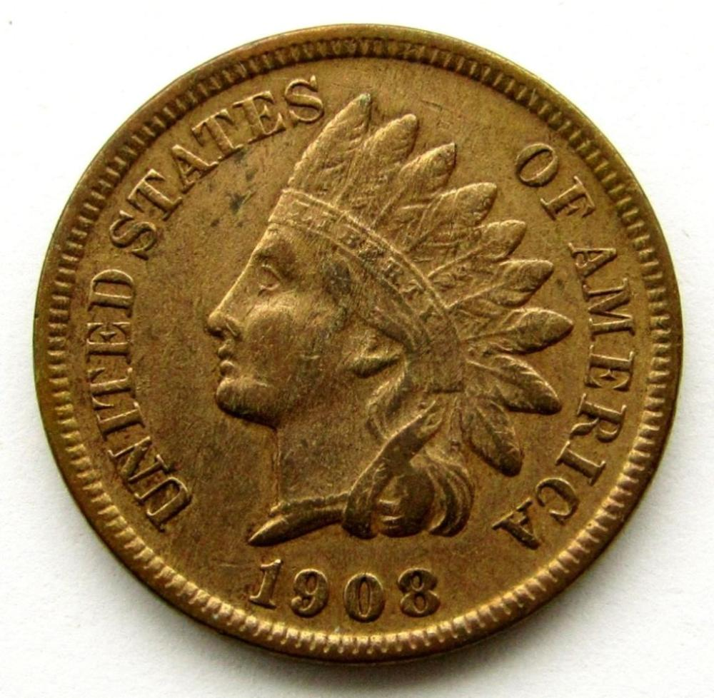1908-S INDIAN CENT FINE/XF