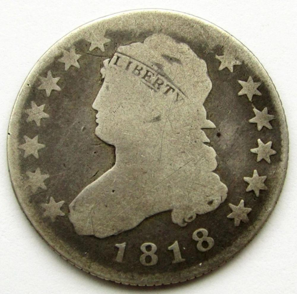 1818 CAPPED BUST QUARTER