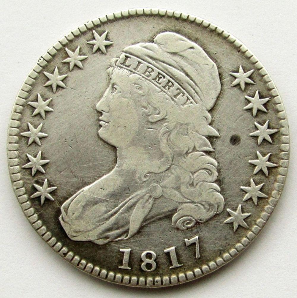 1817 CAPPED  BUST HALF DOLLAR VG+