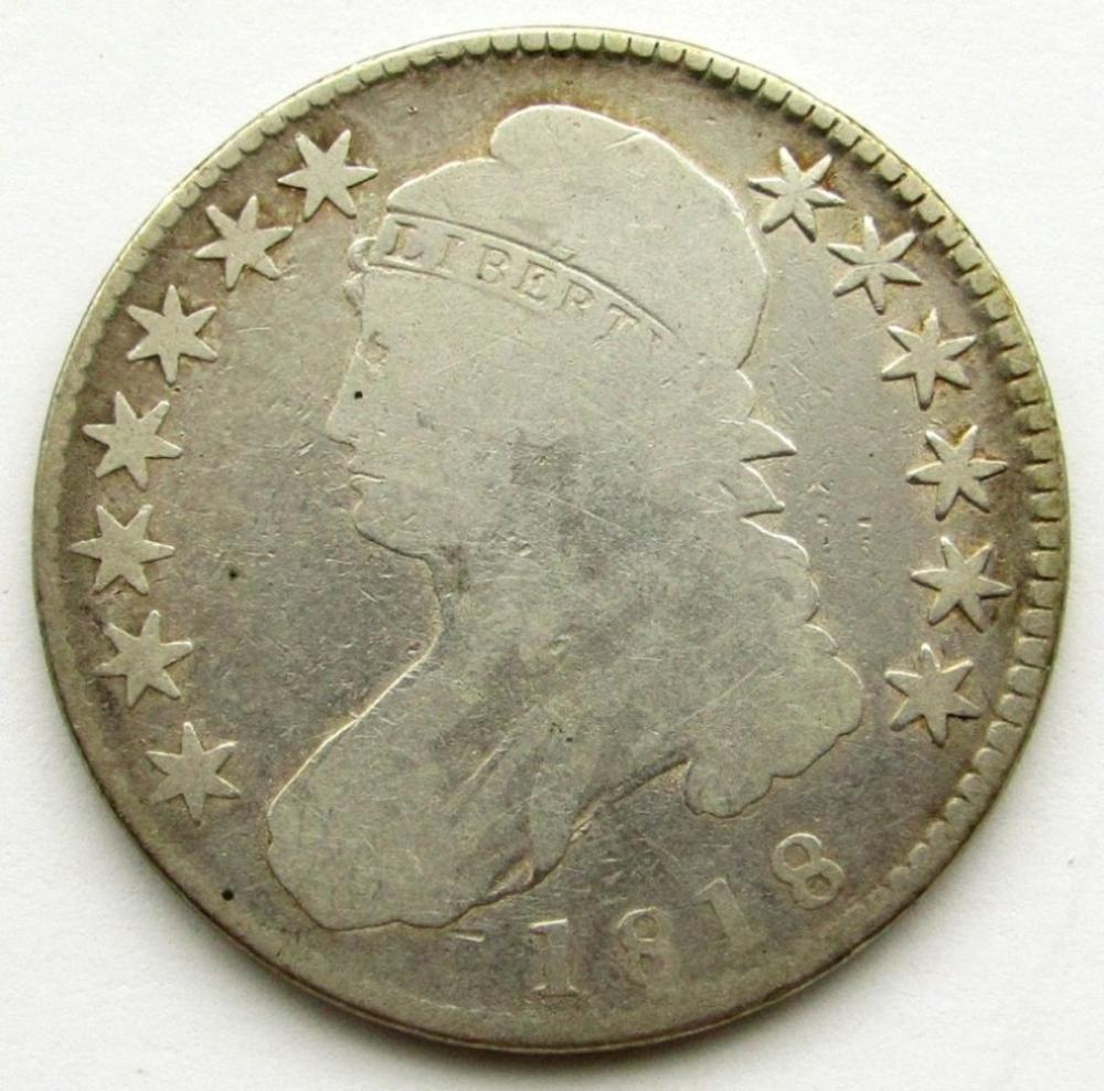 1818 CAPPED BUST HALF DOLLAR