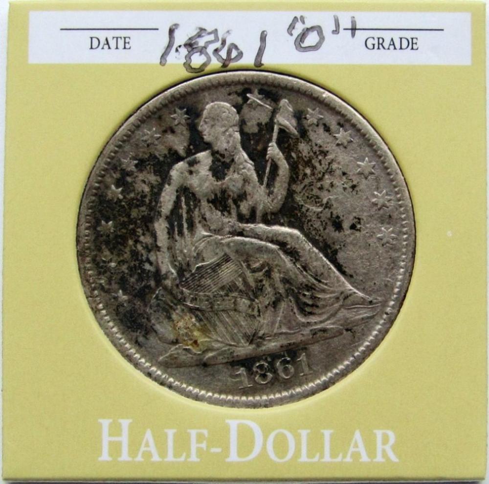 1861-S SEATED HALF DOLLAR