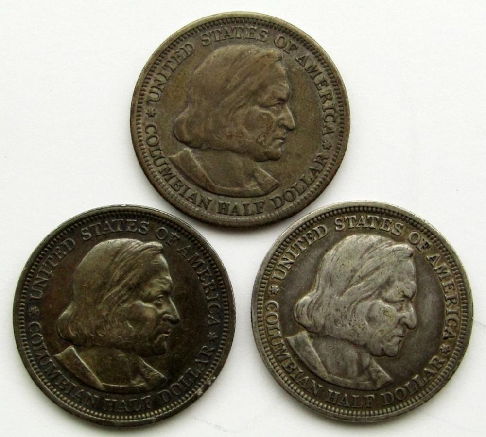 3-1892 COLUMBIAN HALF DOLLAR